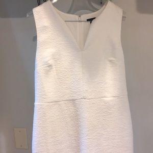 White sheath Ann Taylor dress 12 slimming gorgeous